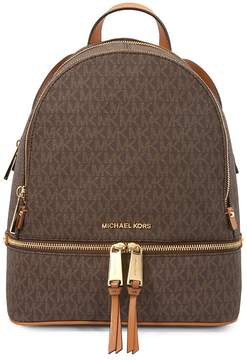 Michael Kors Rhea Medium Logo Print Backpack - Brown - ONE COLOR - STYLE