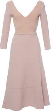 Agnona Lana Double Stretch Knit Round Circle Midi Dress