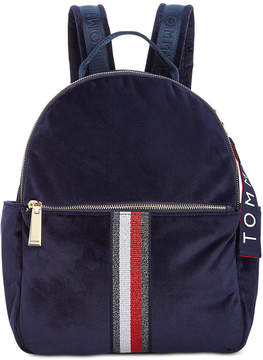 Tommy Hilfiger Isa Metallic Flag Velvet Backpack