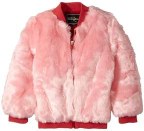 Rock Your Baby Debbie Faux Fur Bomber Girl's Coat