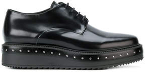 Albano studded lace-up platform shoes