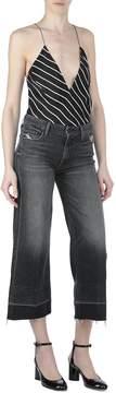 Mother The Roller Crop Undone Hem Jeans