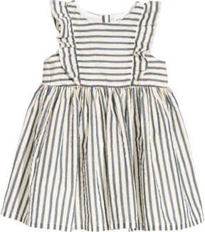 H&M Striped Cotton Dress - Blue