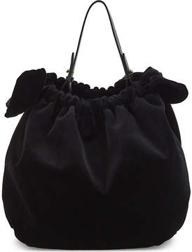 Simone Rocha Double bow velvet shoulder bag