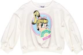 Moschino Marie Antoinette Print Cotton Sweatshirt