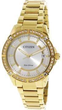 Citizen Women's Eco-Drive FE6062-56A Gold Stainless-Steel Japanese Quartz Fashion Watch