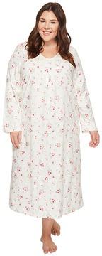 Carole Hochman Plus Size Soft Jersey Floral Long Gown Women's Pajama