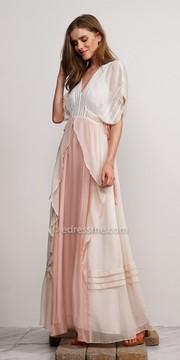 Adelyn Rae Helene Woven Kimono Sleeve Maxi Dress