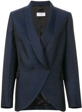 Alberto Biani patterned double breasted blazer