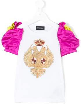 DSQUARED2 puff sleeve crest T-shirt