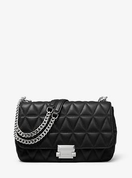 Michael Kors Sloan Large Quilted-Leather Shoulder Bag - BLACK - STYLE