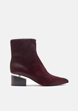 Alexander Wang Jude Haircalf Ankle Boots Bordeaux Size: EU 36