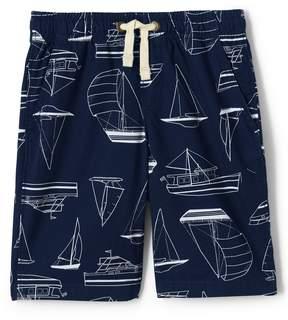 Lands' End Lands'end Boys Husky Printed Pull On Shorts