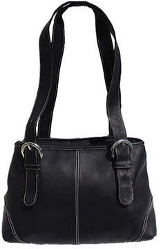 Piel Women's Leather Medium Buckle Handbag 2599