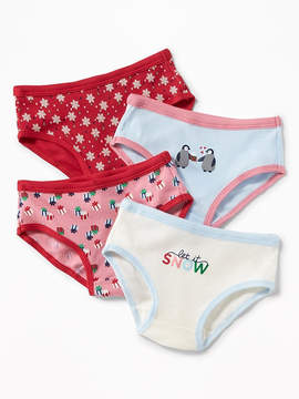 Old Navy Holiday-Print Underwear 4-Pack for Toddler Girls