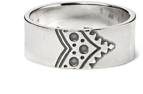 Nonnative Dweller Engraved Silver Ring