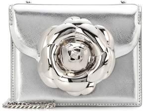 Oscar de la Renta TRO metallic leather shoulder bag