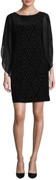 Donna Ricco Women's Velvet Illusion Dress