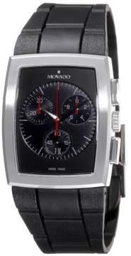 Movado Eliro Rubber Tonneau Dial Chronograph Mens Watch 0606393
