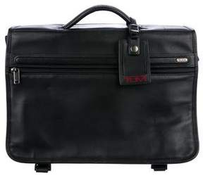 Tumi Leather Messenger Bag