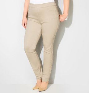 Avenue Butter Denim Pull-On Jegging (Khaki)