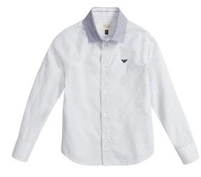 Armani Junior Boy's Geo Print Dress Shirt