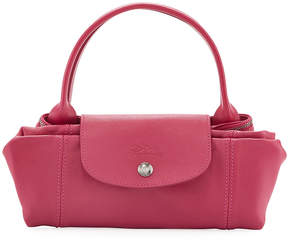 Longchamp Le Pliage Cuir Small Tote Bag, Pink