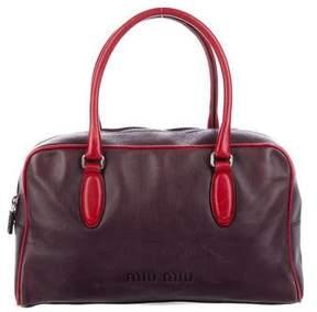 Miu Miu Leather Bowler Bag