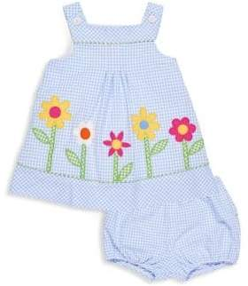 Florence Eiseman Baby Girl's Two-Piece Check Seersucker Dress and Bloomers Set