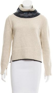 Mulberry 2015 Wool-Blend Cowl Neck Sweater
