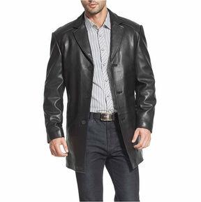 Asstd National Brand Carter Leather Car Coat Tall