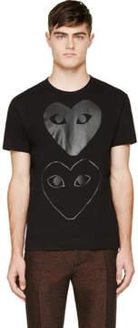 Comme des Garcons Black Two Hearts T-Shirt