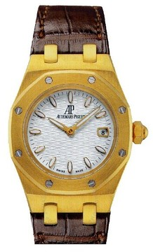 Audemars Piguet Royal Oak Silver Dial 18 kt Yellow Gold Ladies Watch