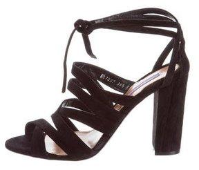 Ralph Lauren Purple Label Lauralei Suede Sandals w/ Tags