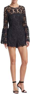 Alexia Admor Women's Bell Sleeve Lace Romper
