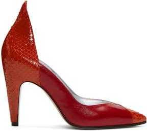 Givenchy Red Kangaroo and Python Heels