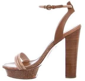 Elie Tahari Python Platform Sandals