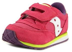 Saucony Baby Jazz Hl Youth Round Toe Suede Pink Sneakers.