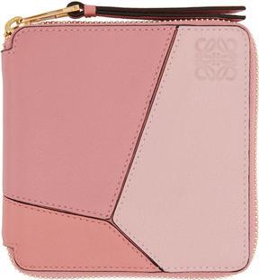 Loewe Pink Small Puzzle Zip Around Wallet