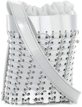 Paco Rabanne disc embellished bucket tote