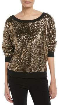 Ella Moss Disco Sequined Pullover Sweatshirt