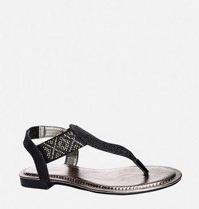 Avenue Leann Glitter Cutout Thong Sandal