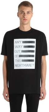 Raf Simons Any Way Out Print Cotton Jersey T-Shirt