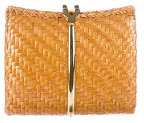 Rodo Wicker Flip-Lock Clutch