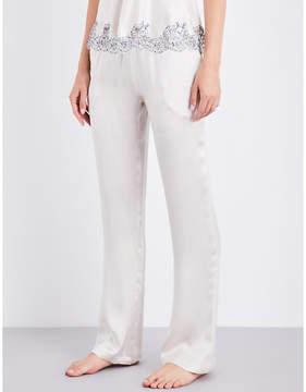 Carine Gilson Straight silk-satin pyjama bottoms
