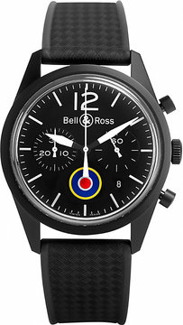Bell & Ross Aviation automatic rubber PVD watch