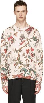 McQ Beige Oversized Floral Sweatshirt