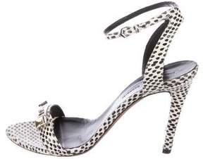 Proenza Schouler Snakeskin Pointed-Toe Sandals
