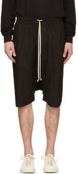 Rick Owens Black Ricks Pods Shorts