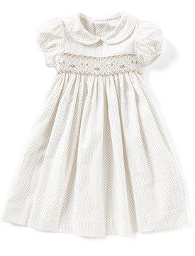 Edgehill Collection Little Girls 2T-6X Peter-Pan Collar Smocked Dress